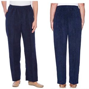 Alfred Dunner Sapphire Blue Pull-On Pants